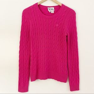 Lilly Pulitzer Cable Knit 100% Cashmere Sweater